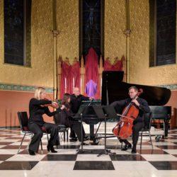 Carol Cook, viola; Calum Cook, cello; Jeannie Yu, piano